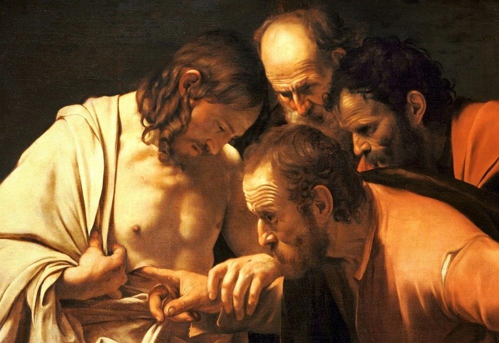 Caravaggio: Nevěřící Tomáš